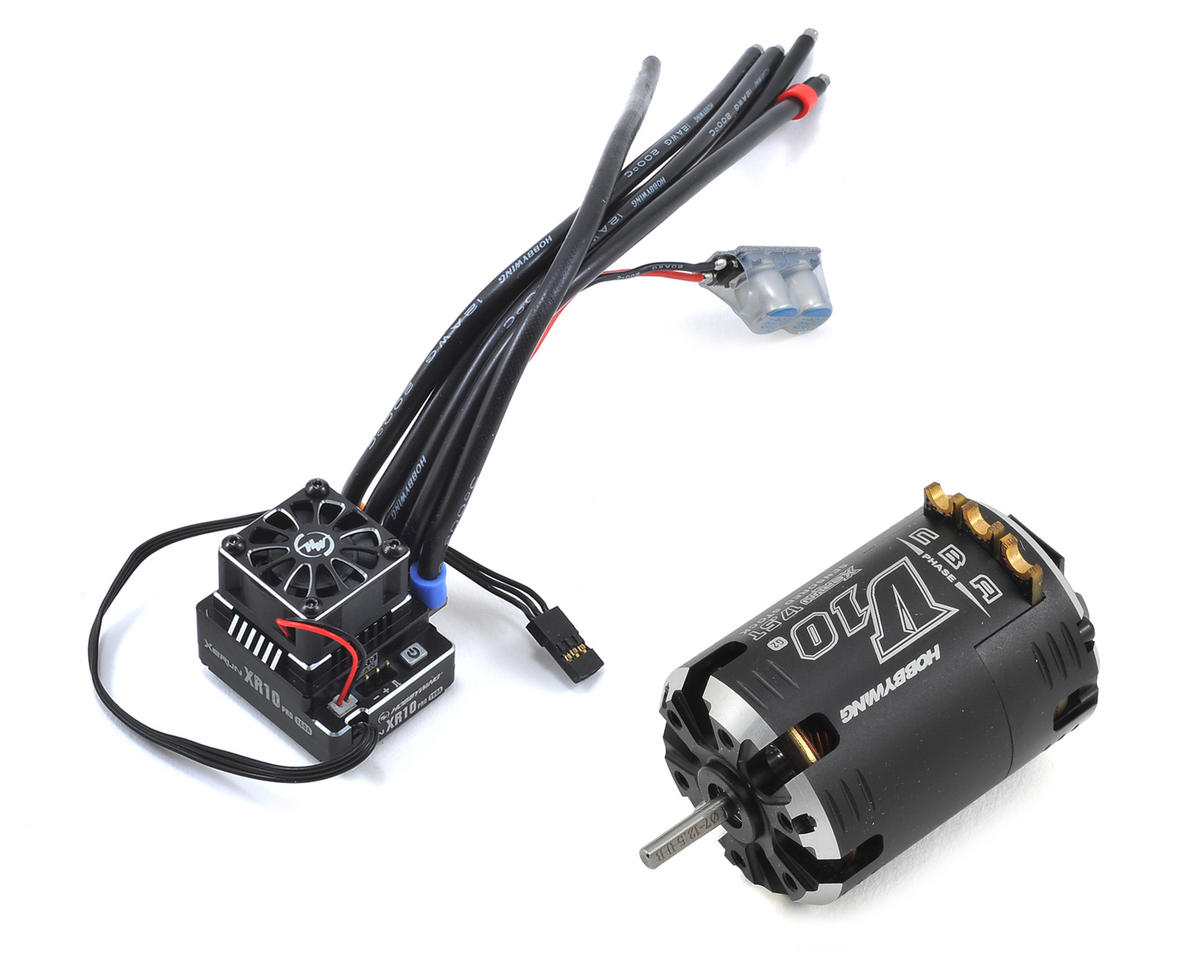 XR10 Pro Sensored Brushless ESC/V10 Motor Combo (17.5T) by Hobbywing