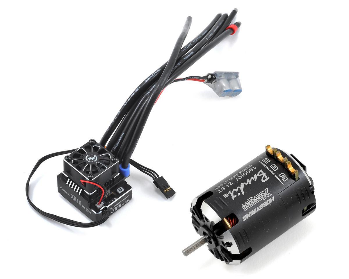 Hobbywing XR10 Pro Sensored Brushless ESC/Bandit Motor Combo (21.5T)