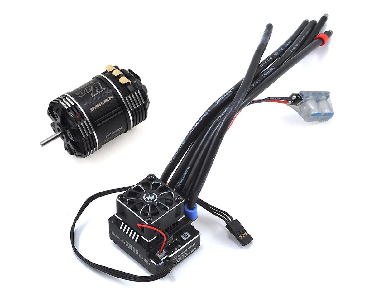 XR10 Pro Sensored Brushless ESC/V10 G3 Motor Combo (3.5T) by Hobbywing
