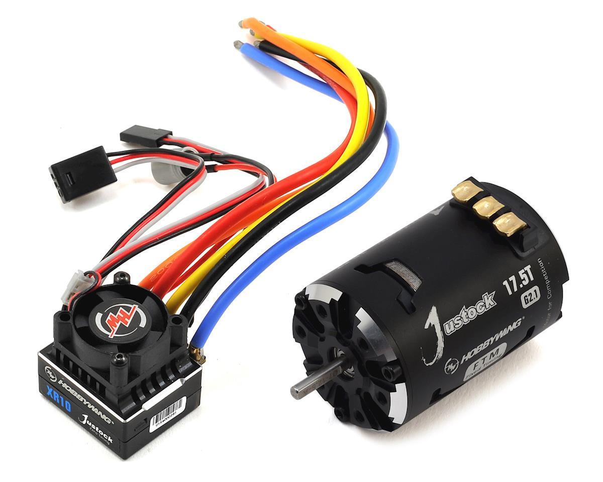 Hobbywing XR10 Justock Sensored Brushless ESC/SD G2.1 Motor Combo (17.5T)