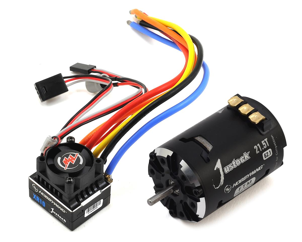 XR10 Justock Sensored Brushless ESC/SD G2.1 Motor Combo (21.5T) by Hobbywing