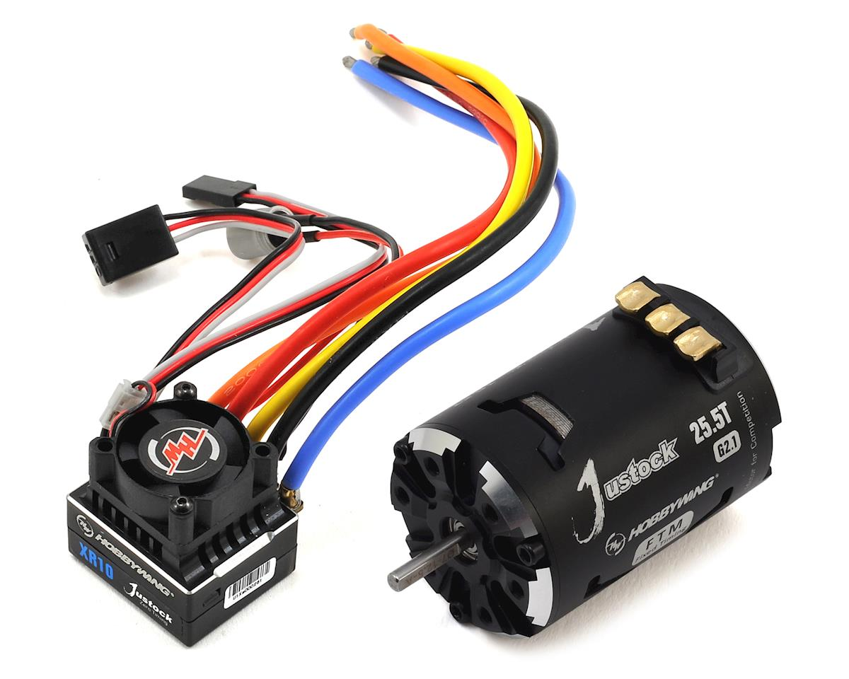 XR10 Justock Sensored Brushless ESC/SD G2.1 Motor Combo (25.5T) by Hobbywing
