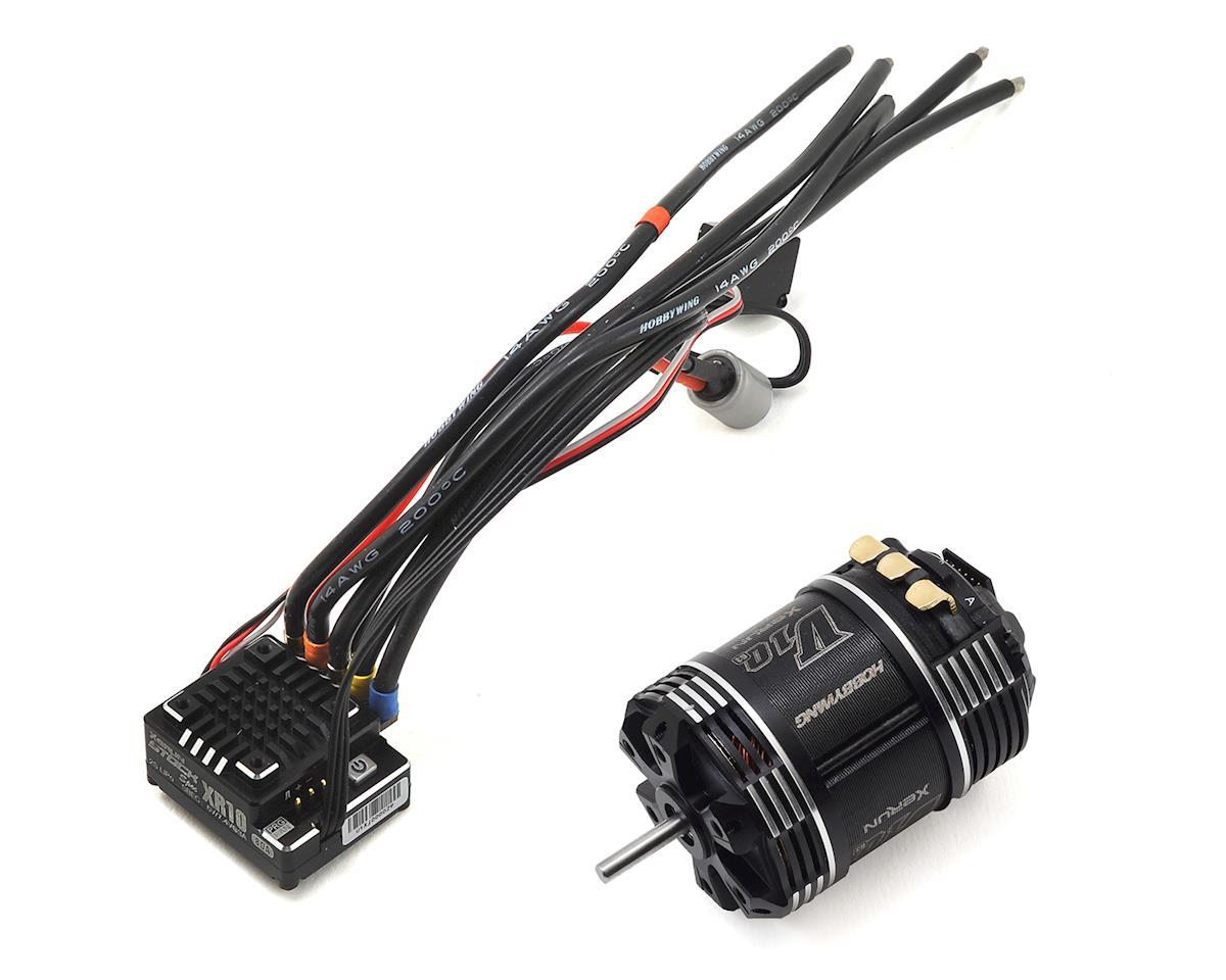Hobbywing XR10 Pro Stock Spec 2S Sensored Brushless ESC/V10 G3 Motor Combo (10.5T)