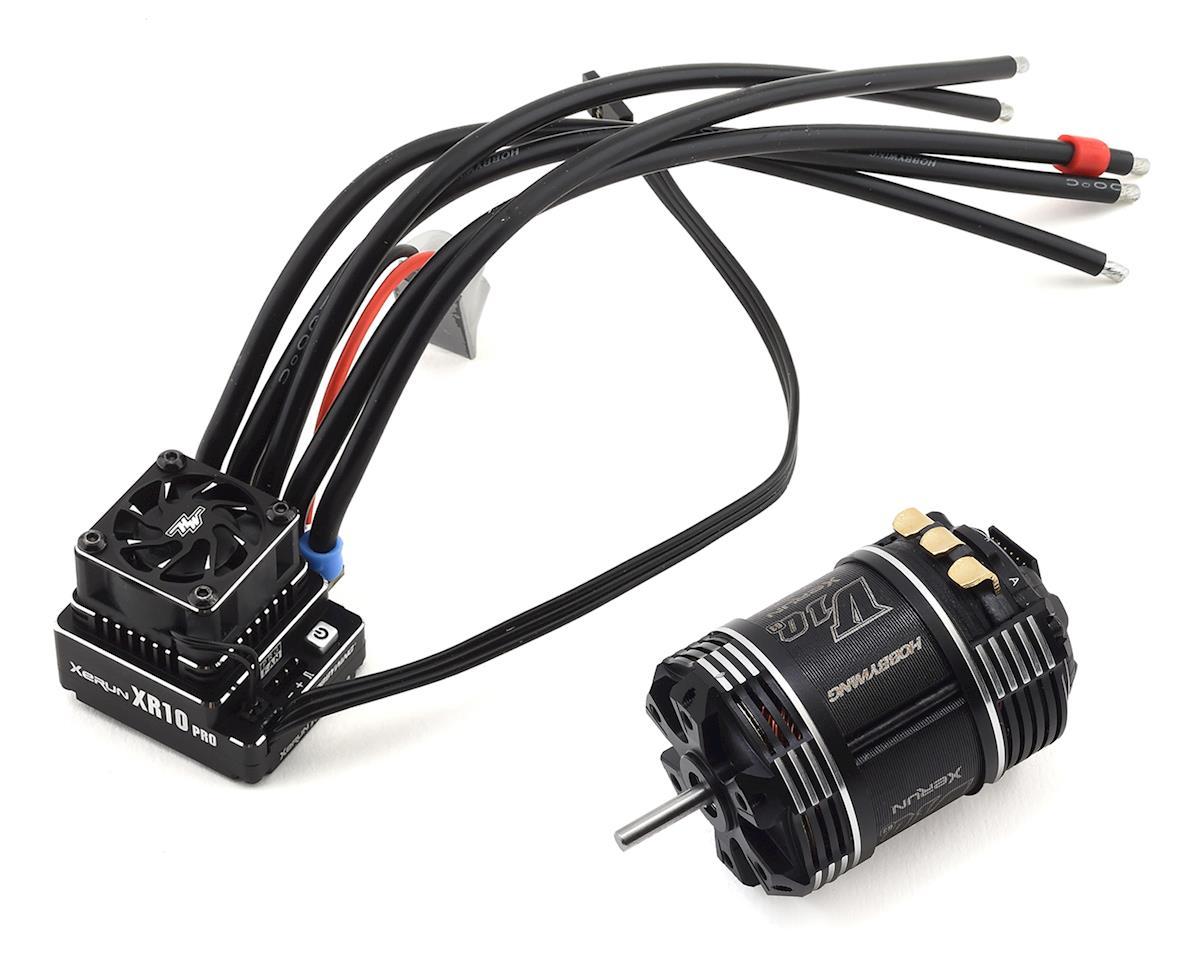 Hobbywing XR10 Pro G2 Sensored Brushless ESC/V10 G3 Motor Combo (8.5T)
