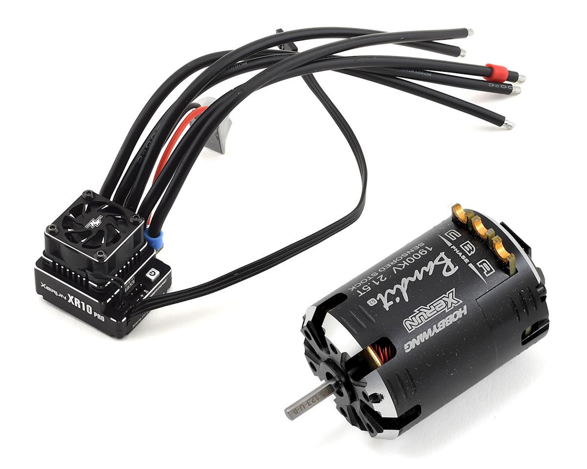 Hobbywing XR10 Pro G2 Sensored Brushless ESC/Bandit Motor Combo (21.5T)