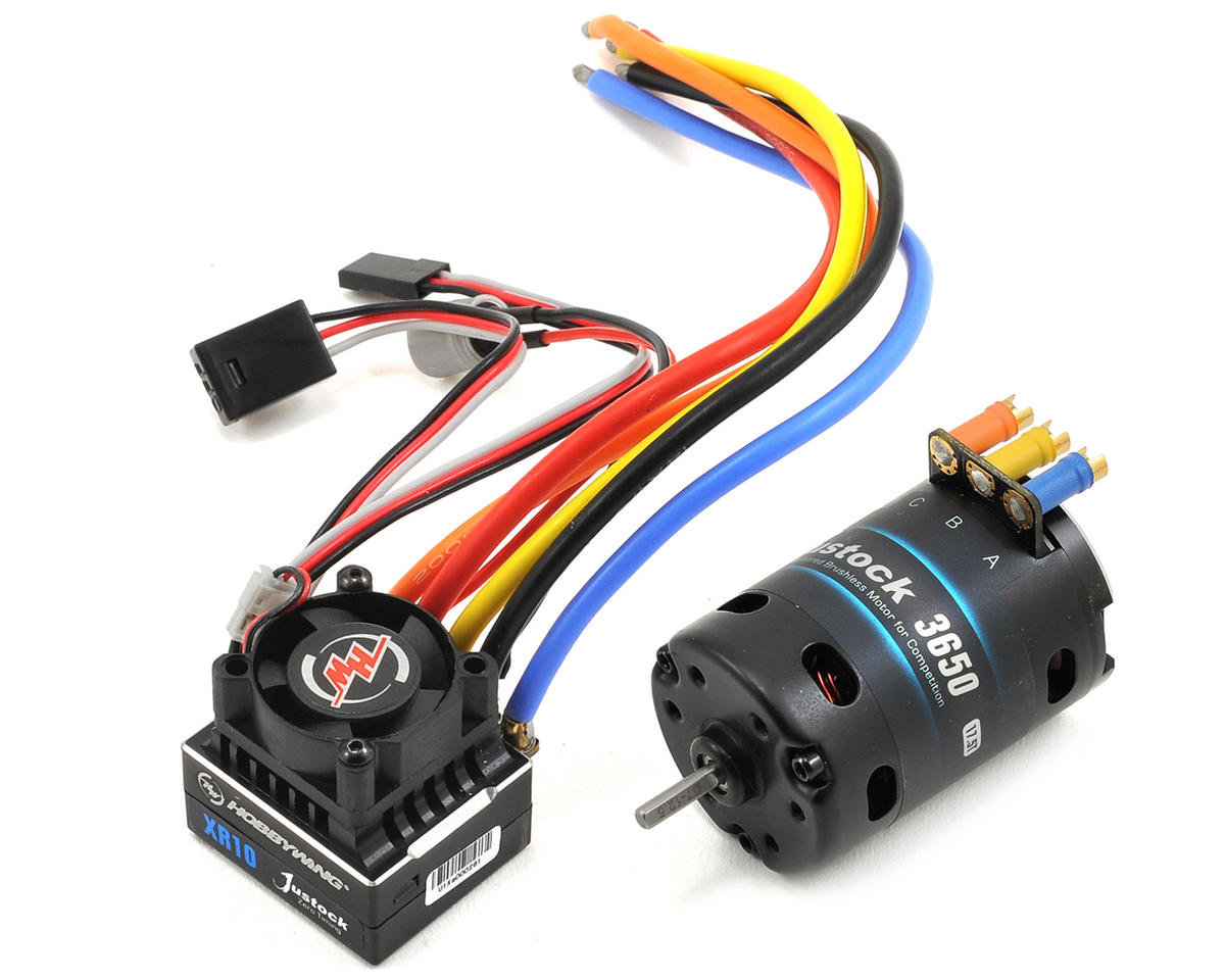 XERUN Justock Zero Spec Sensored Brushless ESC/Motor Combo (17.5T) by Hobbywing