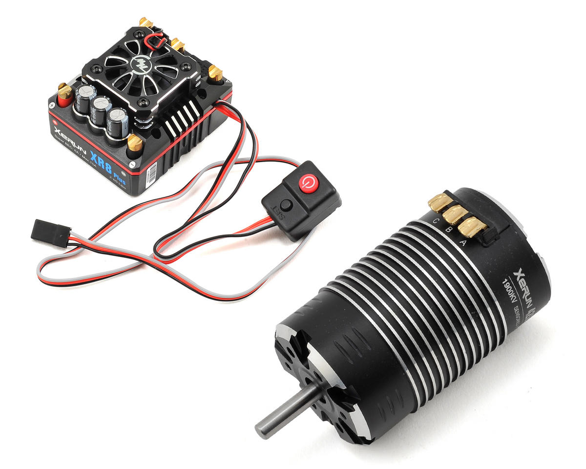 Xerun XR8 Plus Brushless ESC/G2 Motor Combo (1900kV) by Hobbywing