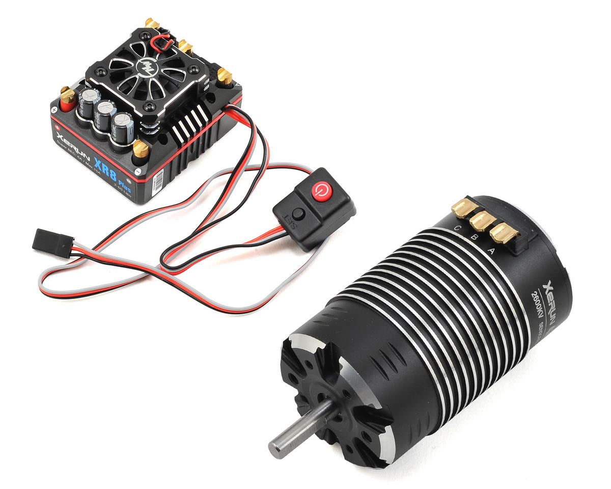 Xerun XR8 Plus Brushless ESC/G2 Motor Combo (2600kV) by Hobbywing