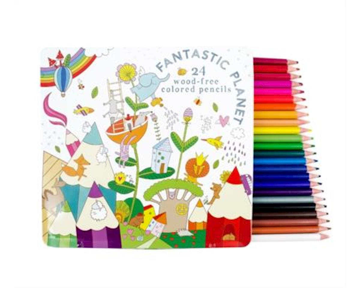 Fantastic Planet Wood Free Colored Pencils, Set of 24
