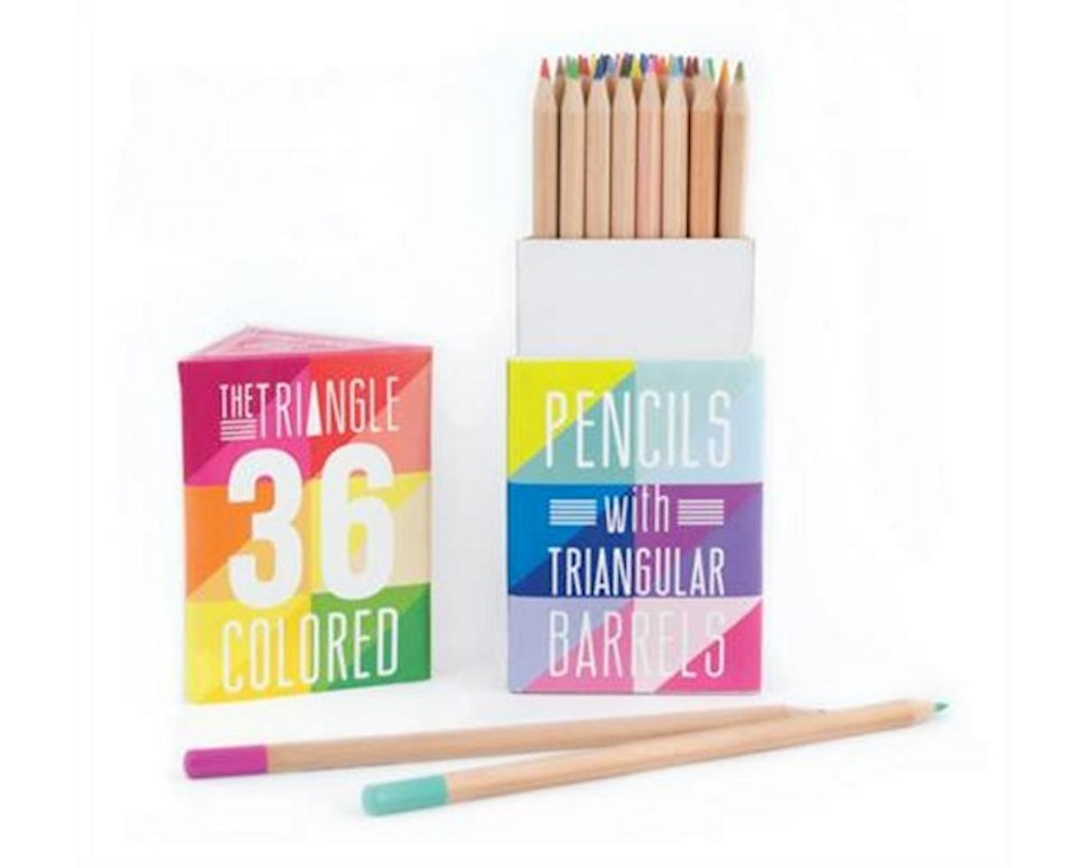 The Triangle Colored Pencils 36Pc by International Arrivals