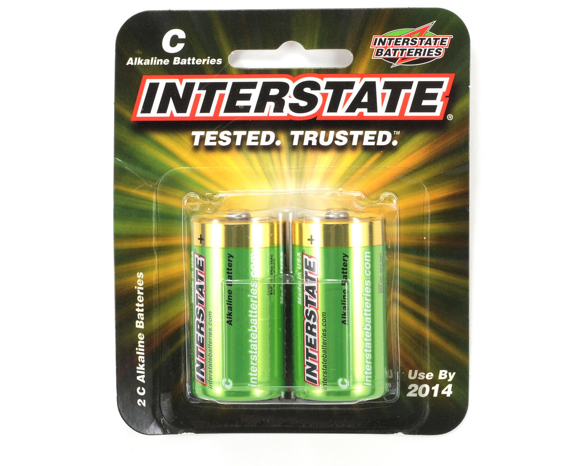 C Alkaline Batteries (2) by Interstate Batteries