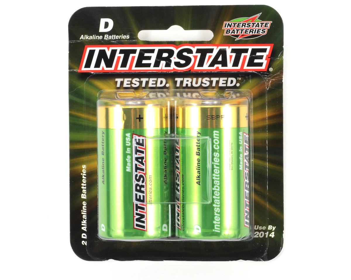 D Alkaline Batteries (2) by Interstate Batteries