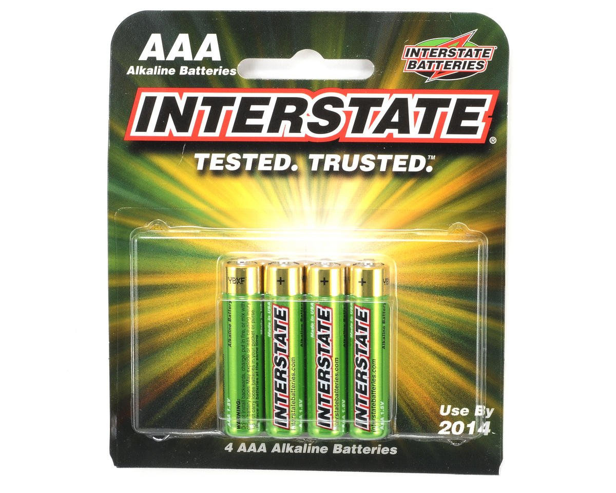 AAA Alkaline Batteries (4) by Interstate Batteries