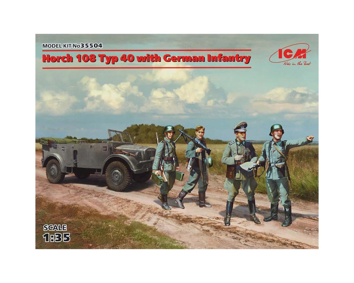 ICM 1/35 Horch 108 Typ 40 w/German Infantry