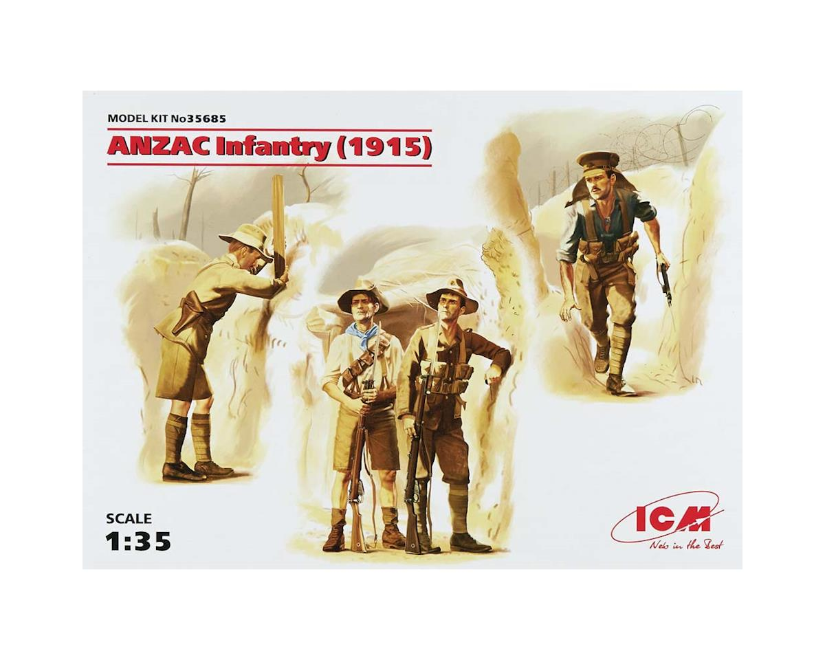 1/35 Anzac Infantry 1915 (4 Figs) by ICM