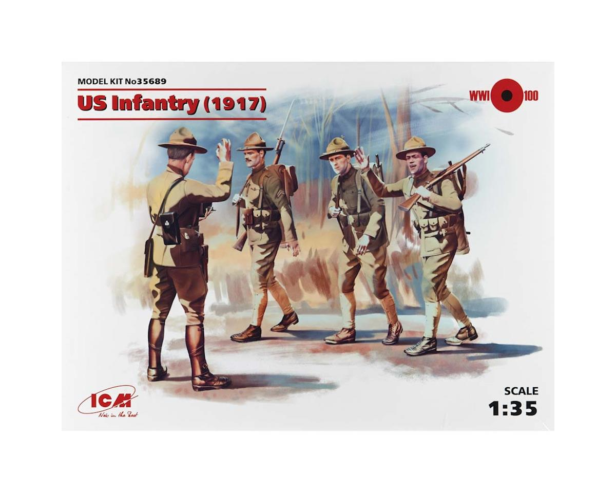 ICM 1/35 US Infantry 1917 (4 Figures)