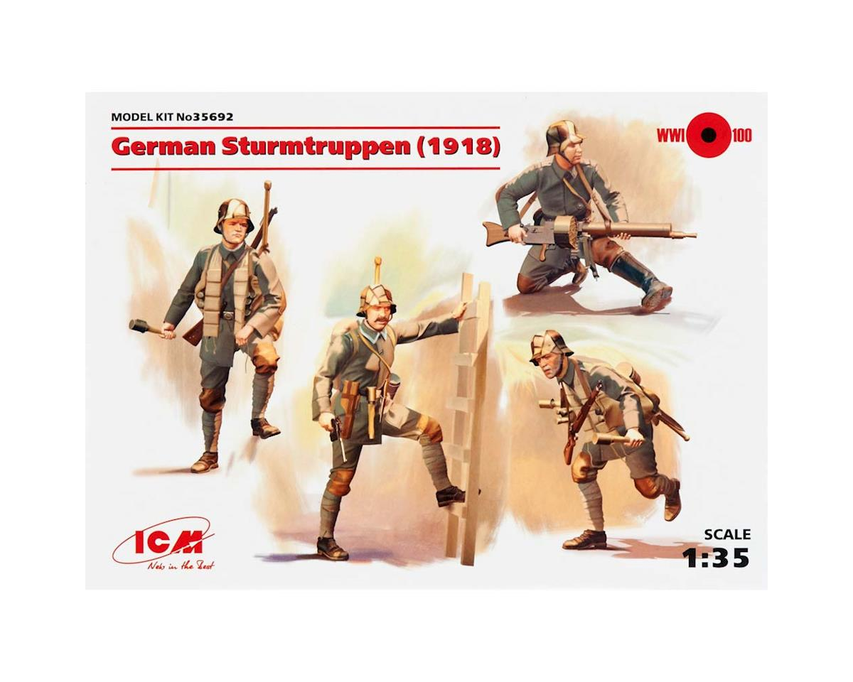 ICM 1/35 German Sturmtruppen 1918 (4 figs)