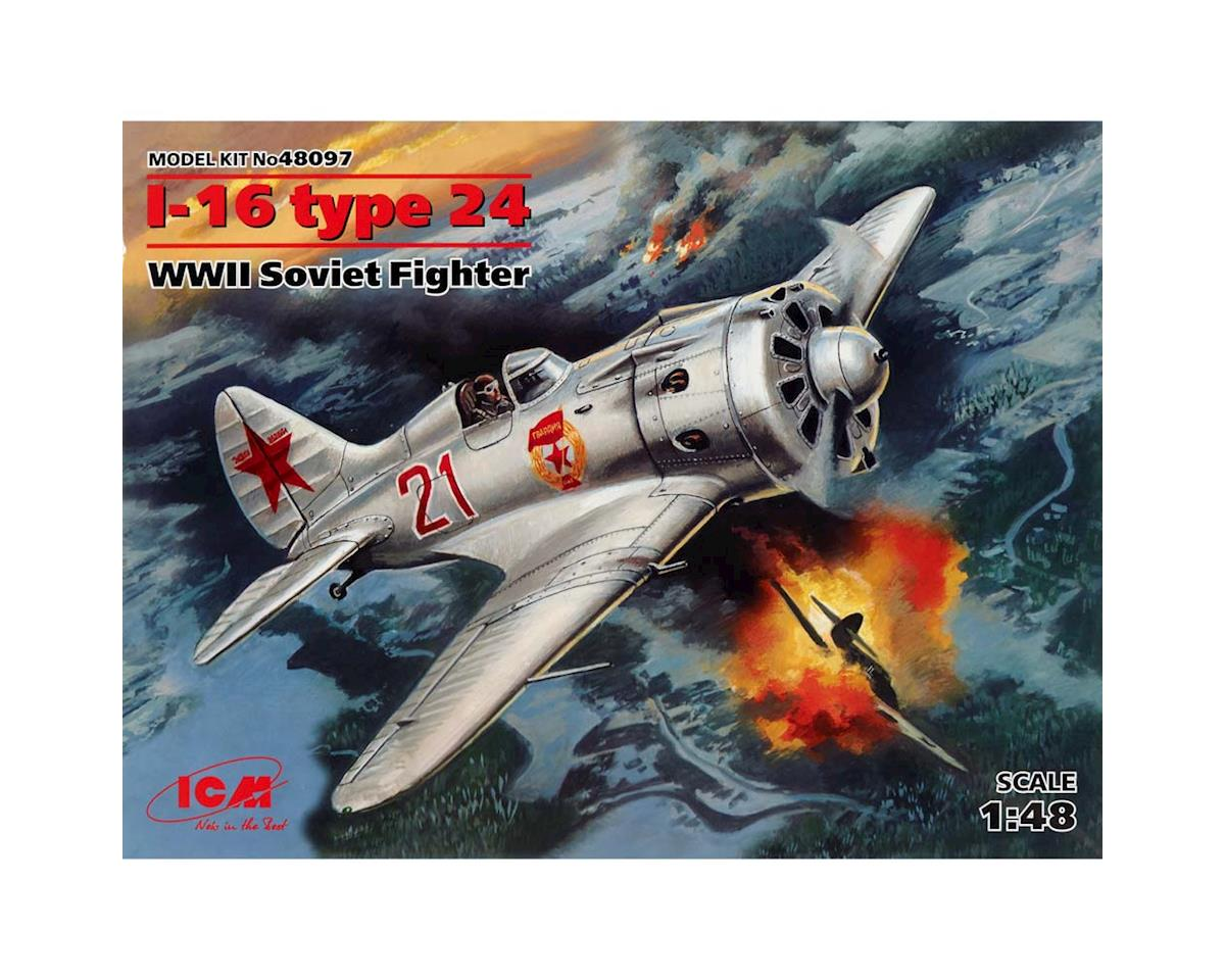 1/48 I-16 Type 24 WWII Soviet Fighter by ICM