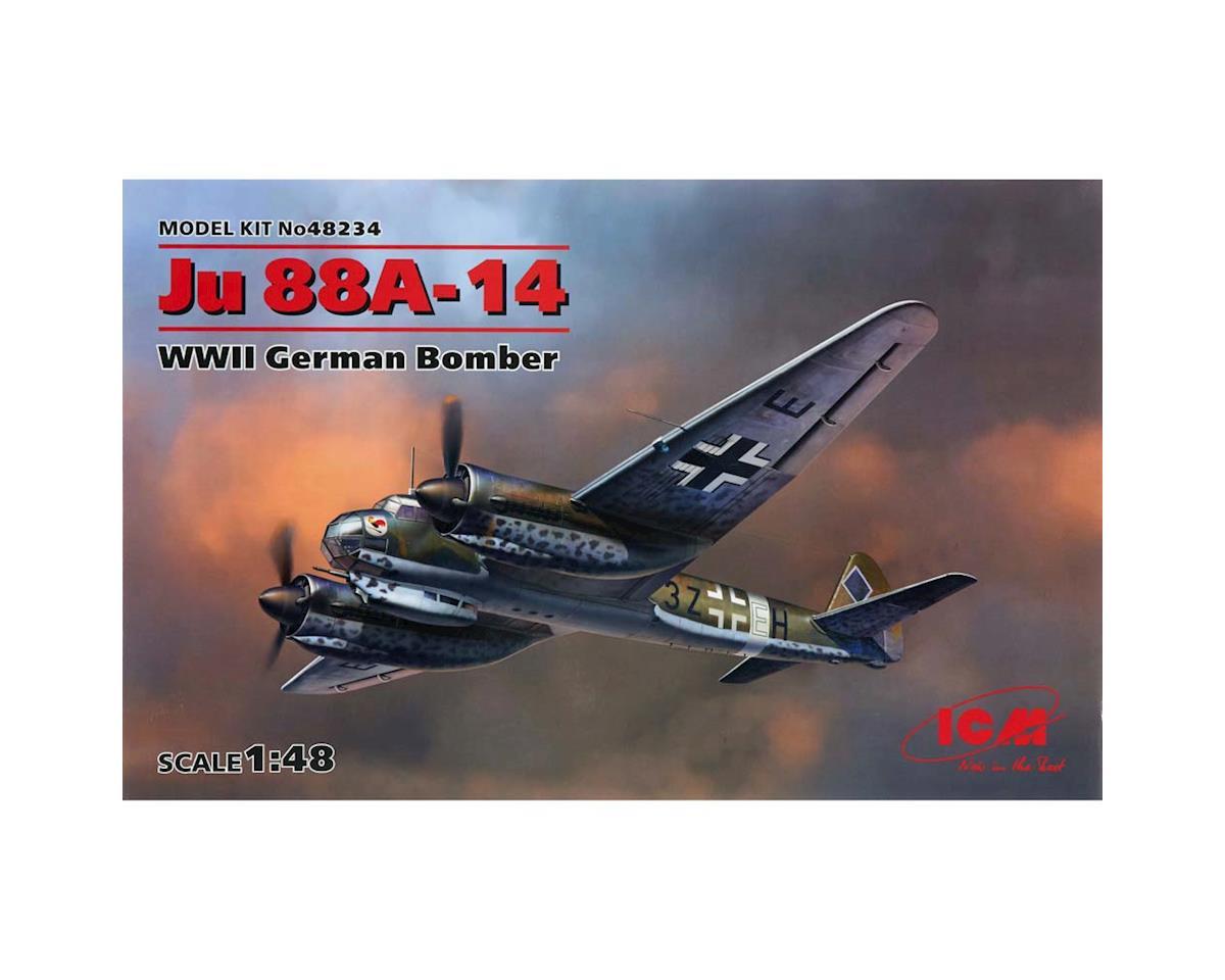 1/48 JU 88A-14 WWII German Bomber by ICM