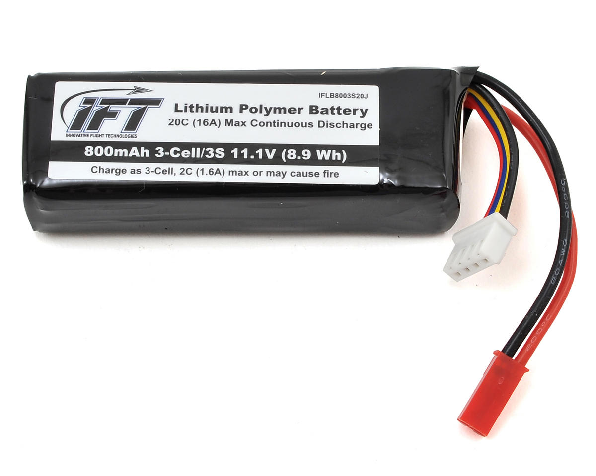 Innovative Flight Technologies 3S 20C LiPo Battery w/JST (11.1V/800mAh)
