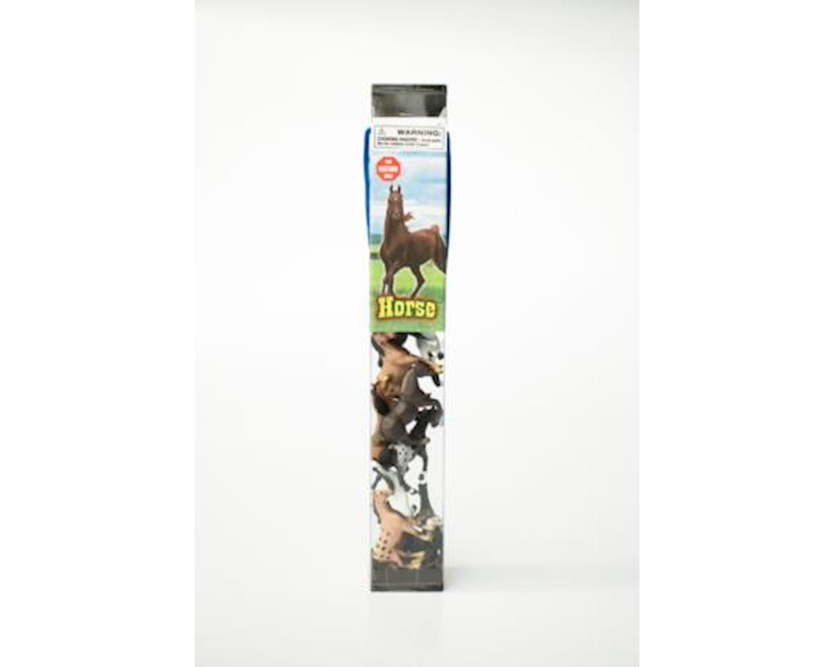 IMEX 12 Pc Tube Horse Playset