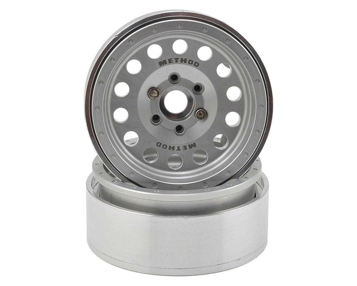 Incision Method 1.9 MR307 Aluminum Beadlock Wheels (2) (Clear)