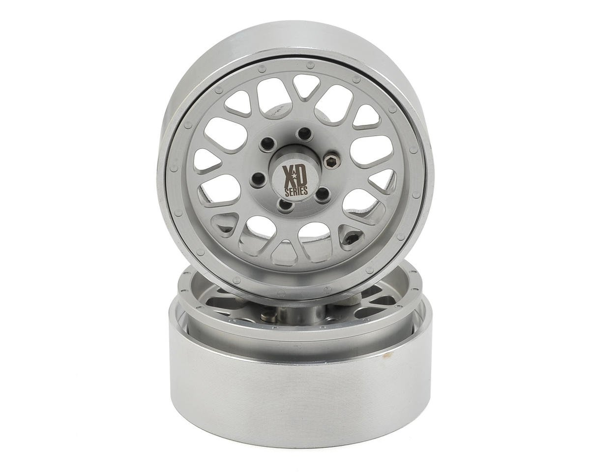 Incision KMC 1.9 XD820 Grenade Aluminum Beadlock Wheels (2) (Clear)