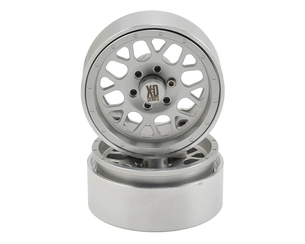 KMC 1.9 XD820 Grenade Aluminum Beadlock Wheels (2) (Clear) by Incision