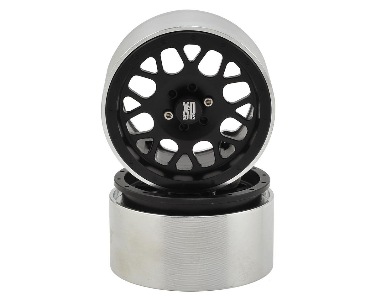 KMC XD820 Grenade 2.2 Aluminum Beadlock Wheels (2) (Black) by Incision