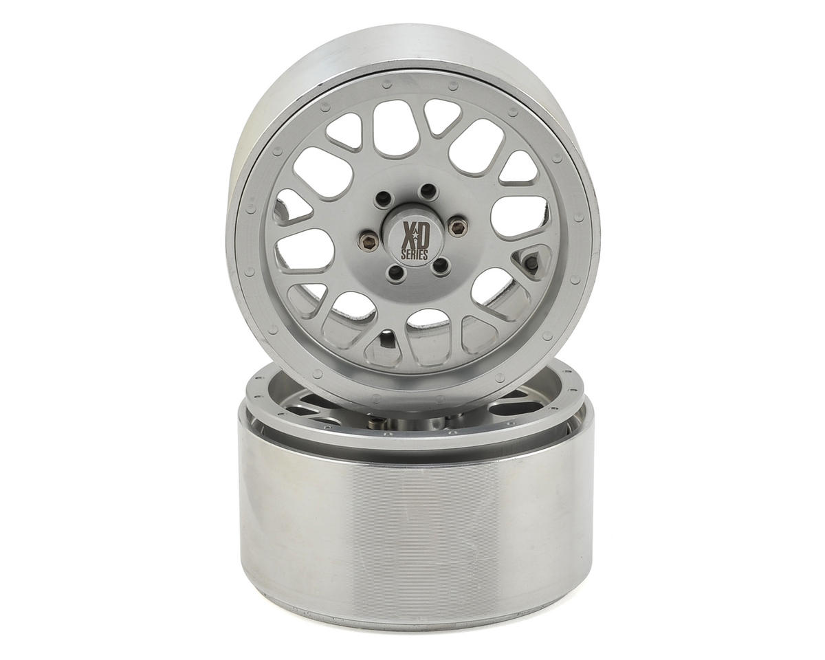 Incision KMC XD820 Grenade 2.2 Aluminum Beadlock Wheels (2) (Clear)