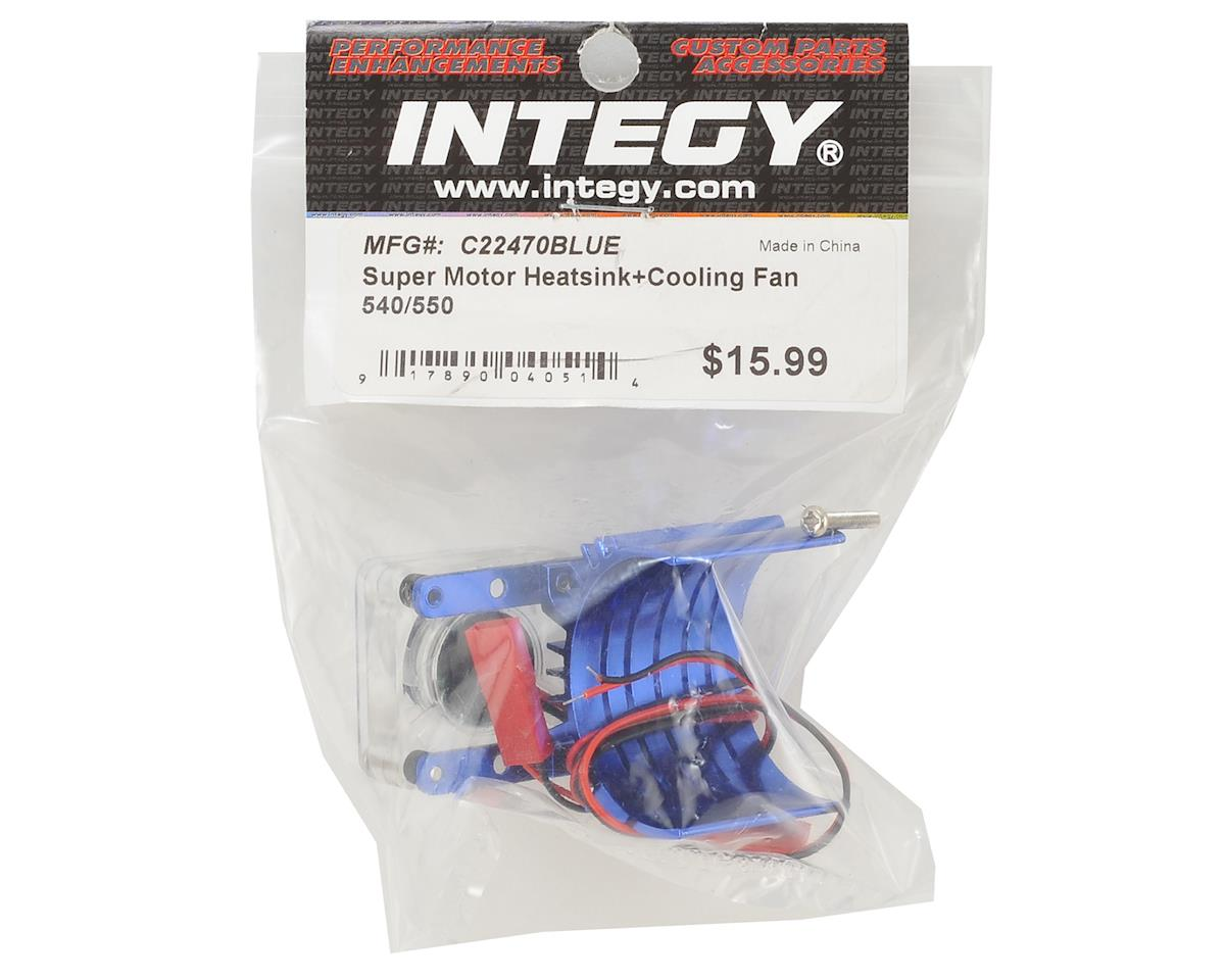 540/550 Motor Heatsink & Cooling Fan (Blue) by Team Integy