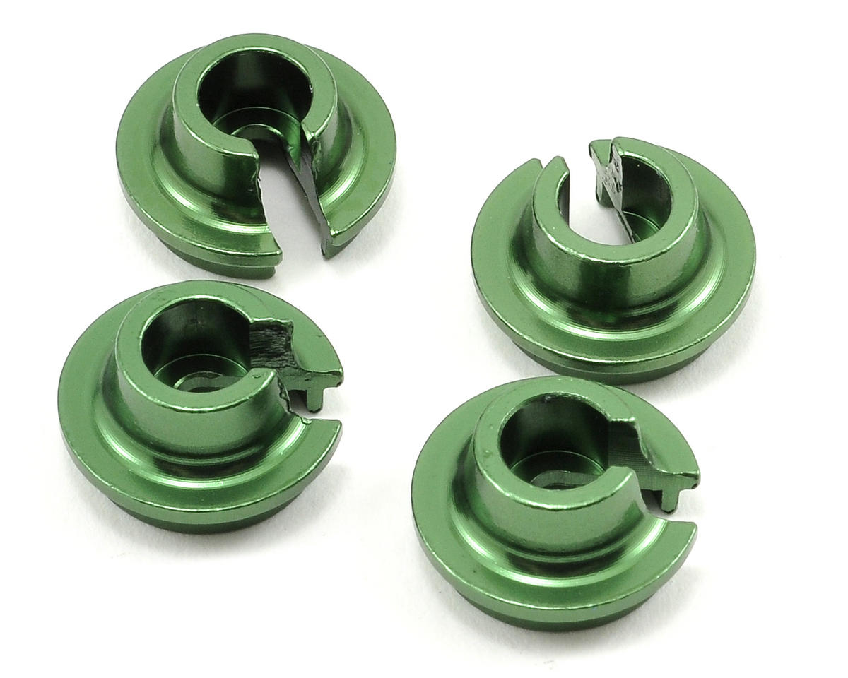 Team Integy AX10 Aluminum Spring Retainer (Green) (4)