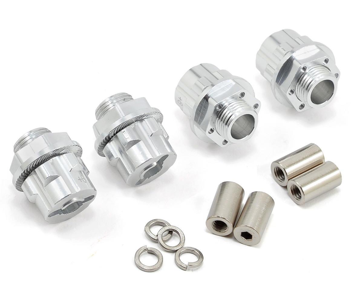 17mm Aluminum Hex Wheel Hub Set (Silver) (4) (+6mm Offset) by Team Integy