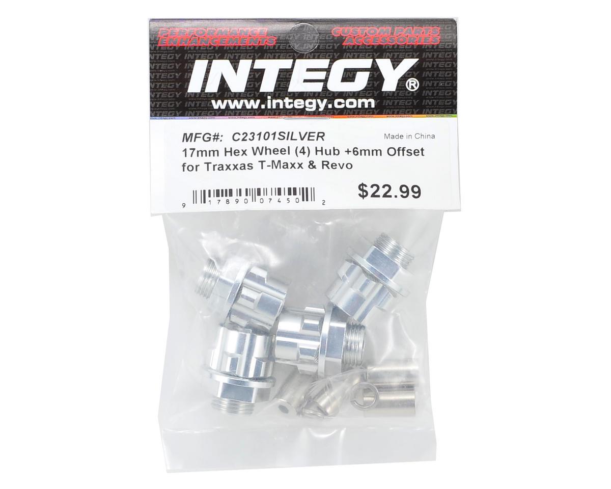 Team Integy 17mm Aluminum Hex Wheel Hub Set (Silver) (4) (+6mm Offset)