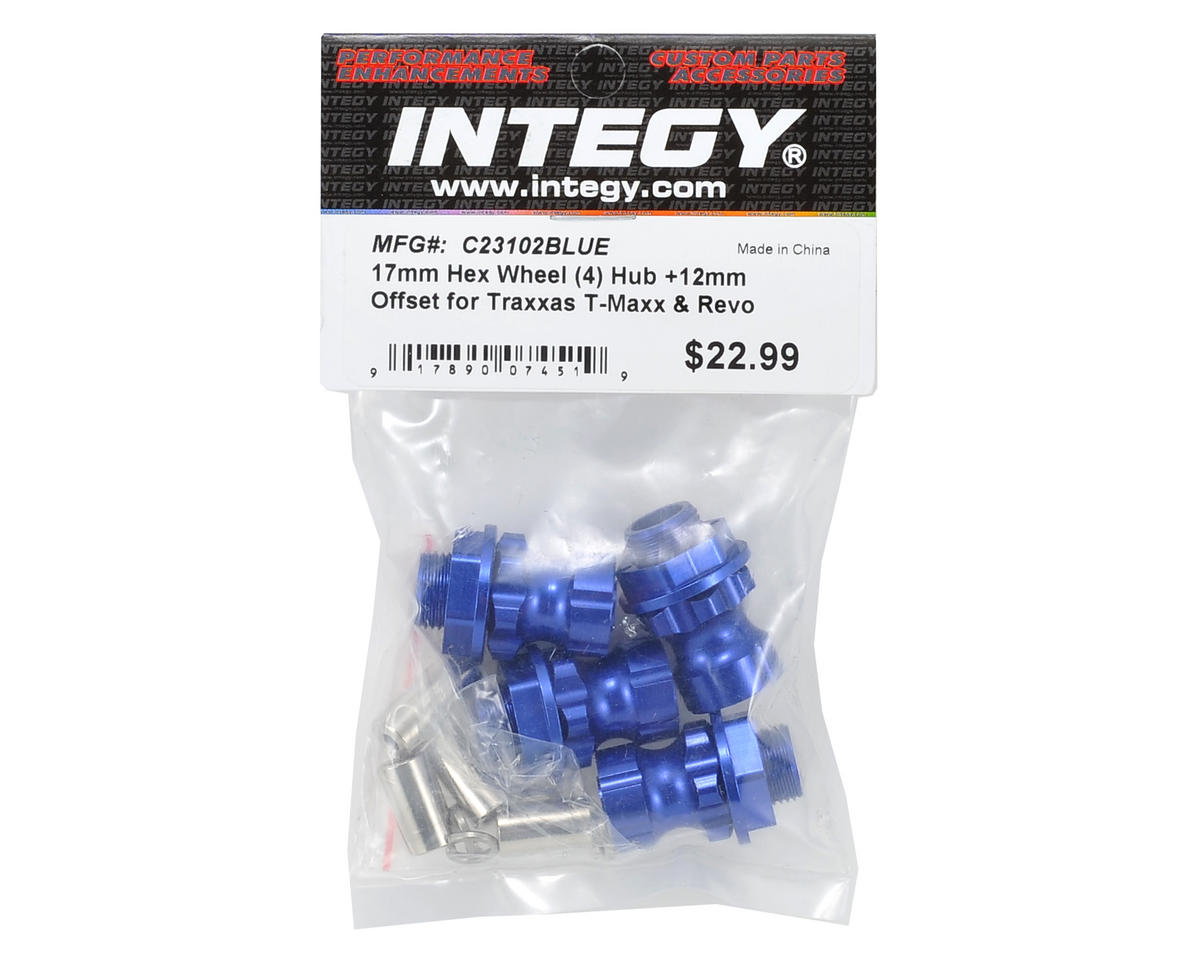 Team Integy 17mm Aluminum Hex Wheel Hub Set (Blue) (4) (+12mm Offset)
