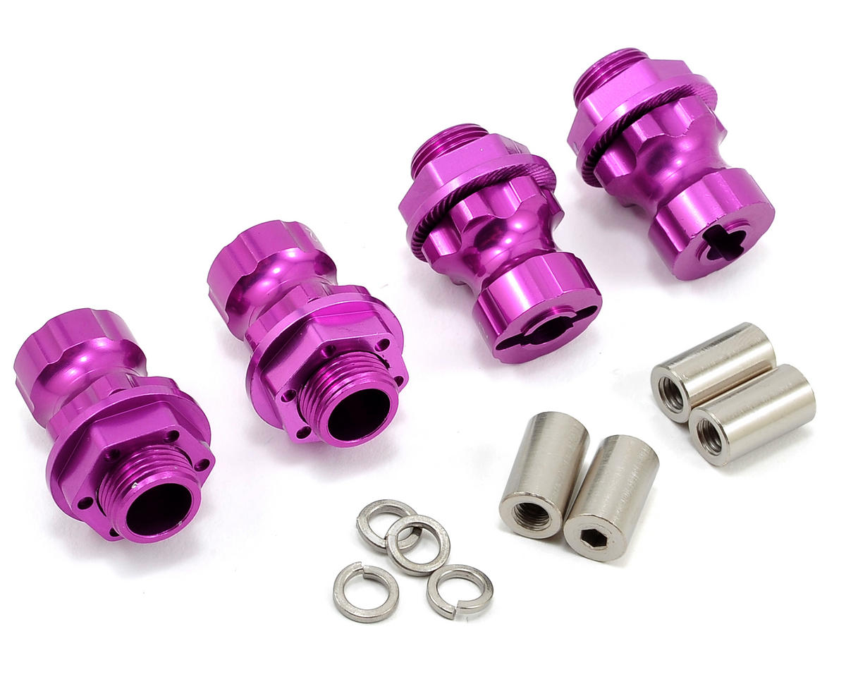 Team Integy 17mm Aluminum Hex Wheel Hub Set (Purple) (4) (+12mm Offset) (Traxxas T-Maxx)