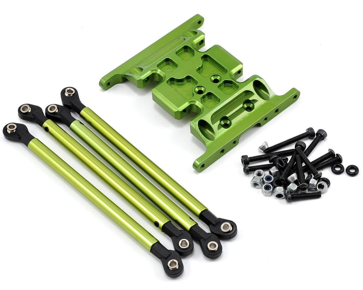 Team Integy Gearbox Holder & Lower Link Set (Green) (4)