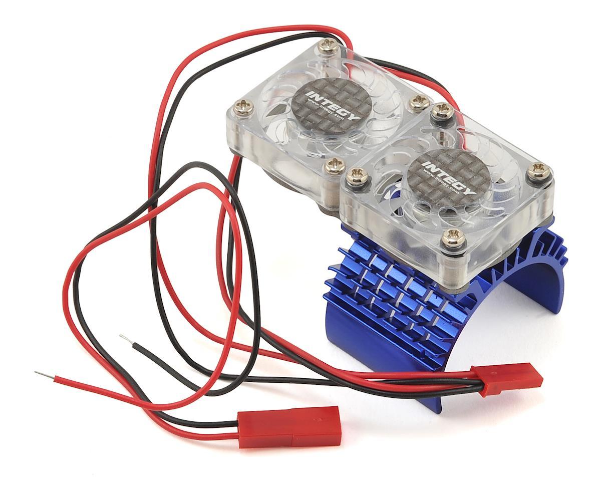Super Twin Fan 540/550 Motor Heatsink (Blue) by Team Integy