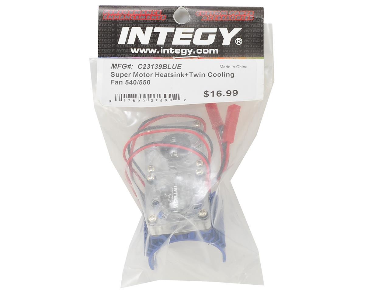 Image 2 for Team Integy Super Twin Fan 540/550 Motor Heatsink (Blue)