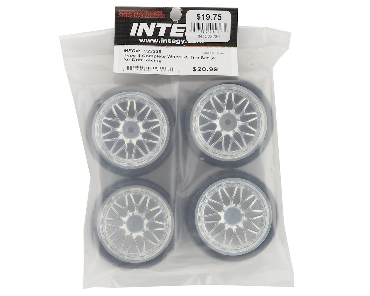 "Team Integy ""Type II"" Complete Drift Wheel & Tire Set (Chrome) (4)"