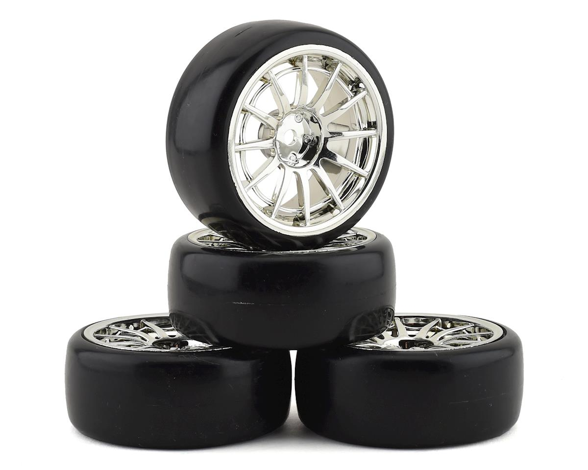 "Team Integy ""Type IV"" Complete Drift Wheel & Tire Set (Chrome) (4)"