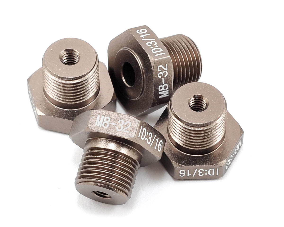"""Team Integy Universal Setup Staion """"Type H"""" Adapter Set (8-32 3/16 size axles)"""