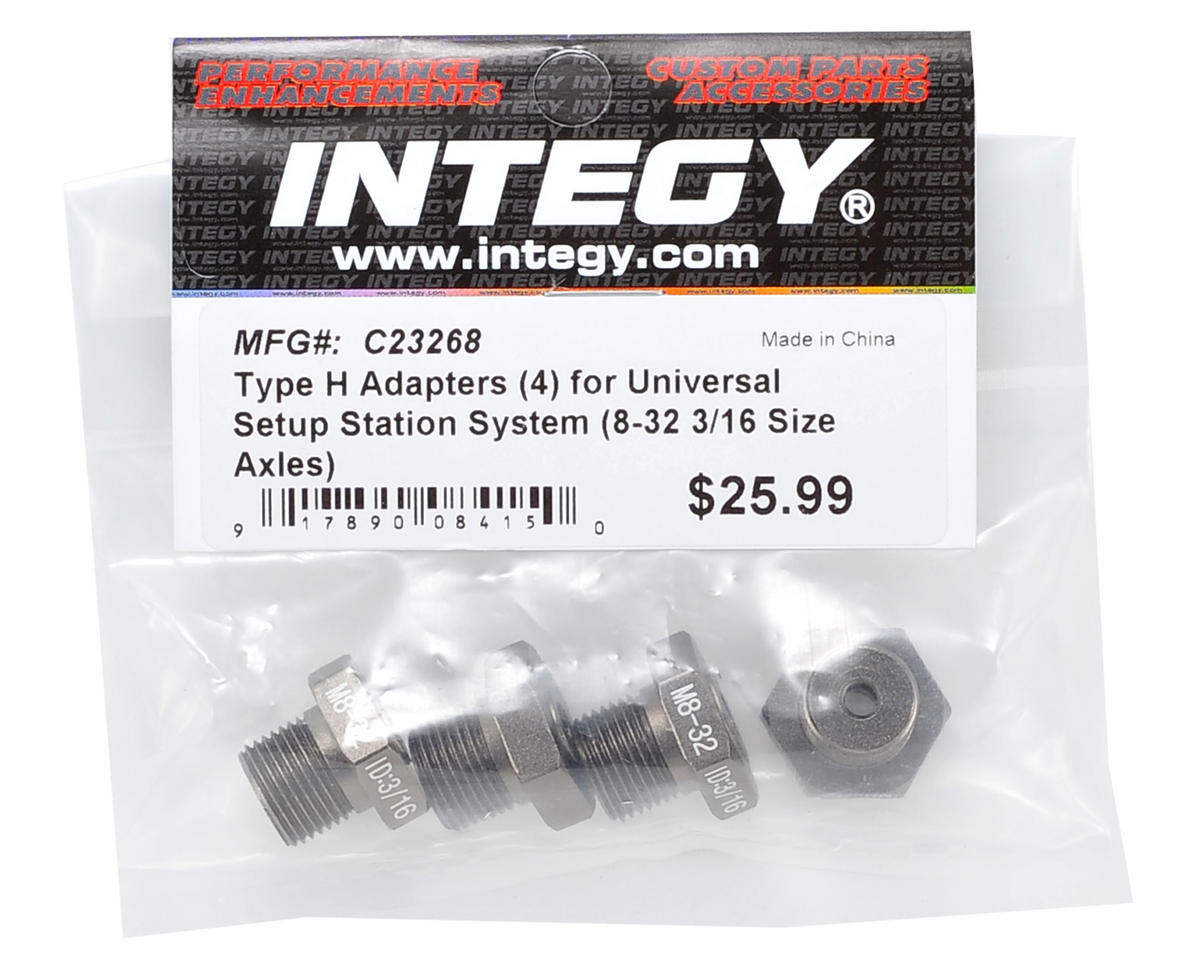 "Team Integy Universal Setup Staion ""Type H"" Adapter Set (8-32 3/16 size axles)"