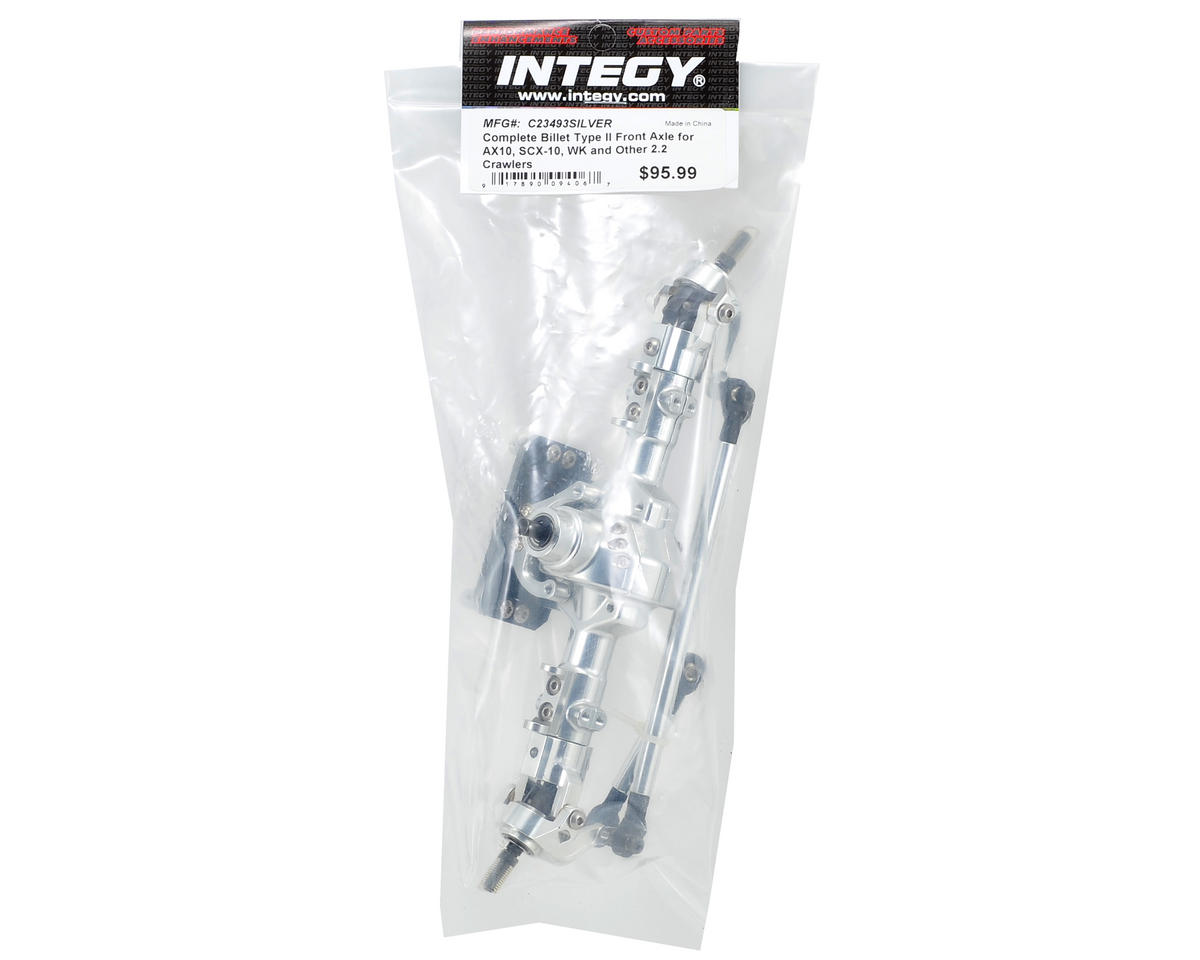 Team Integy Complete Billet Type II Front Axle (Silver)