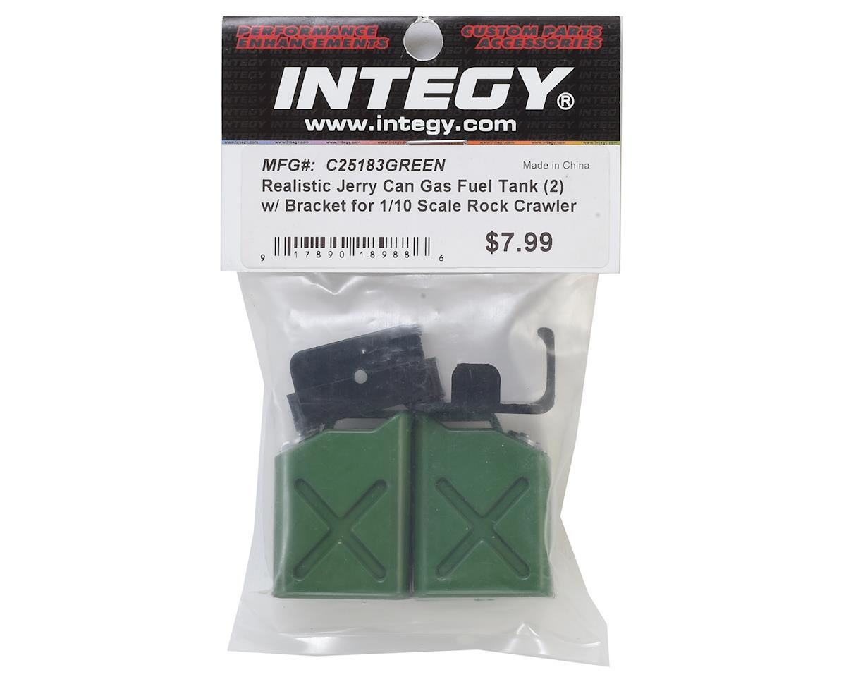 Team Integy 1/10 Crawler Scale Jerry Can (Fuel Cans) (Green) (2)