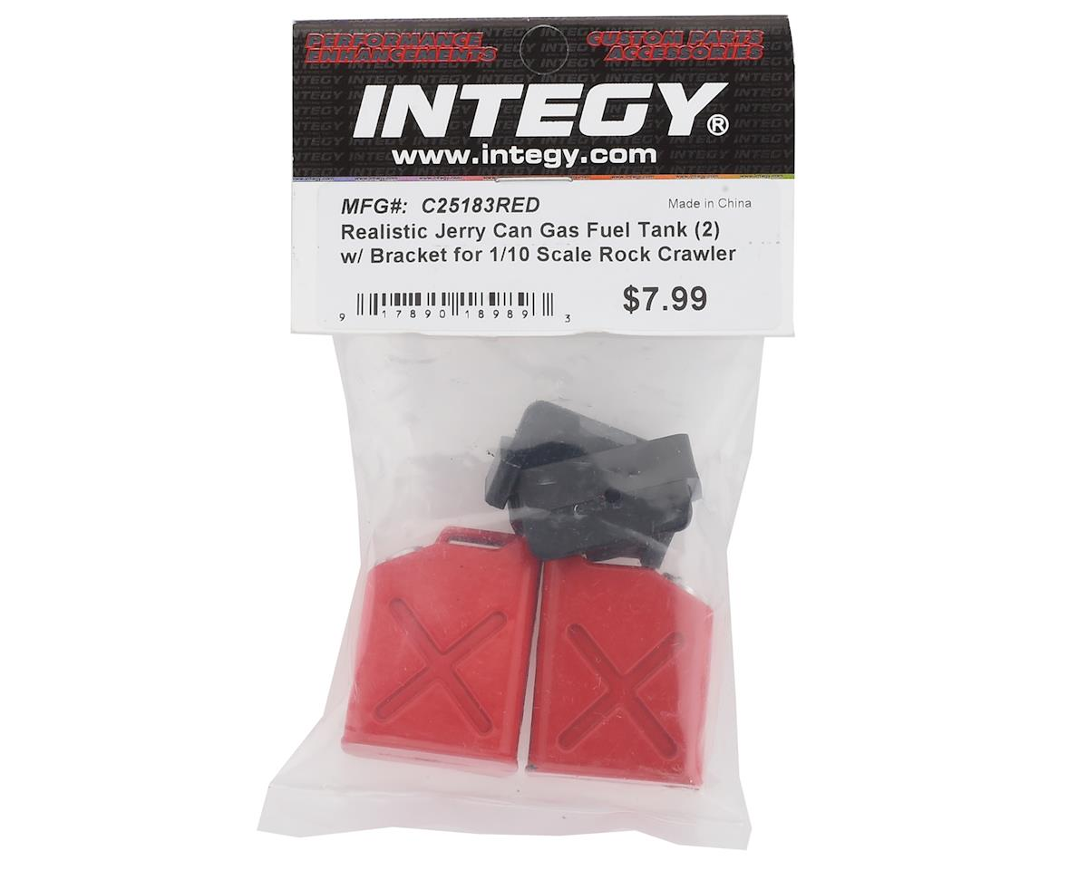 Team Integy 1/10 Scale Crawler Jerry Can Fuel Tank Set (2) (Red)