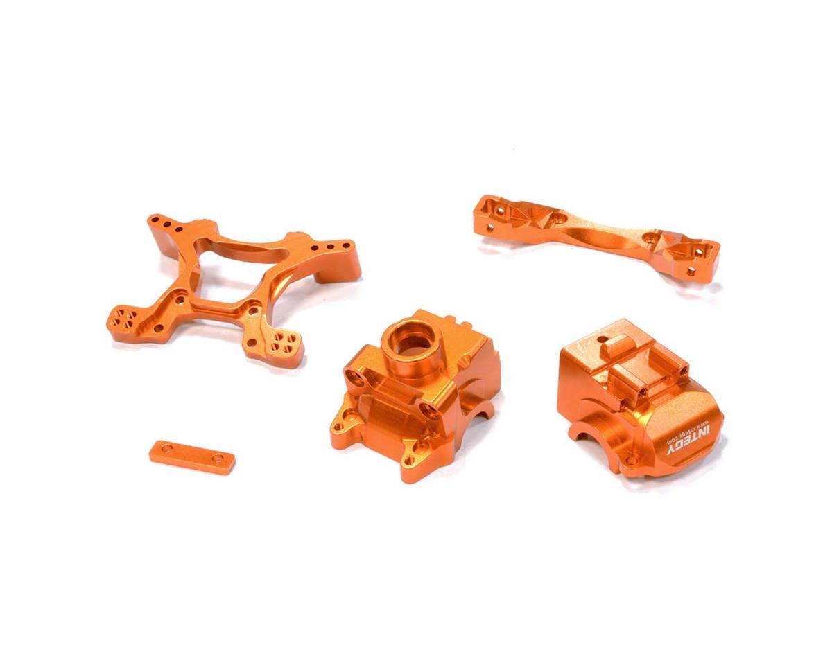 Team Integy C25808ORANGE Front Gearbox/Shock Tower 1/10 Telluride