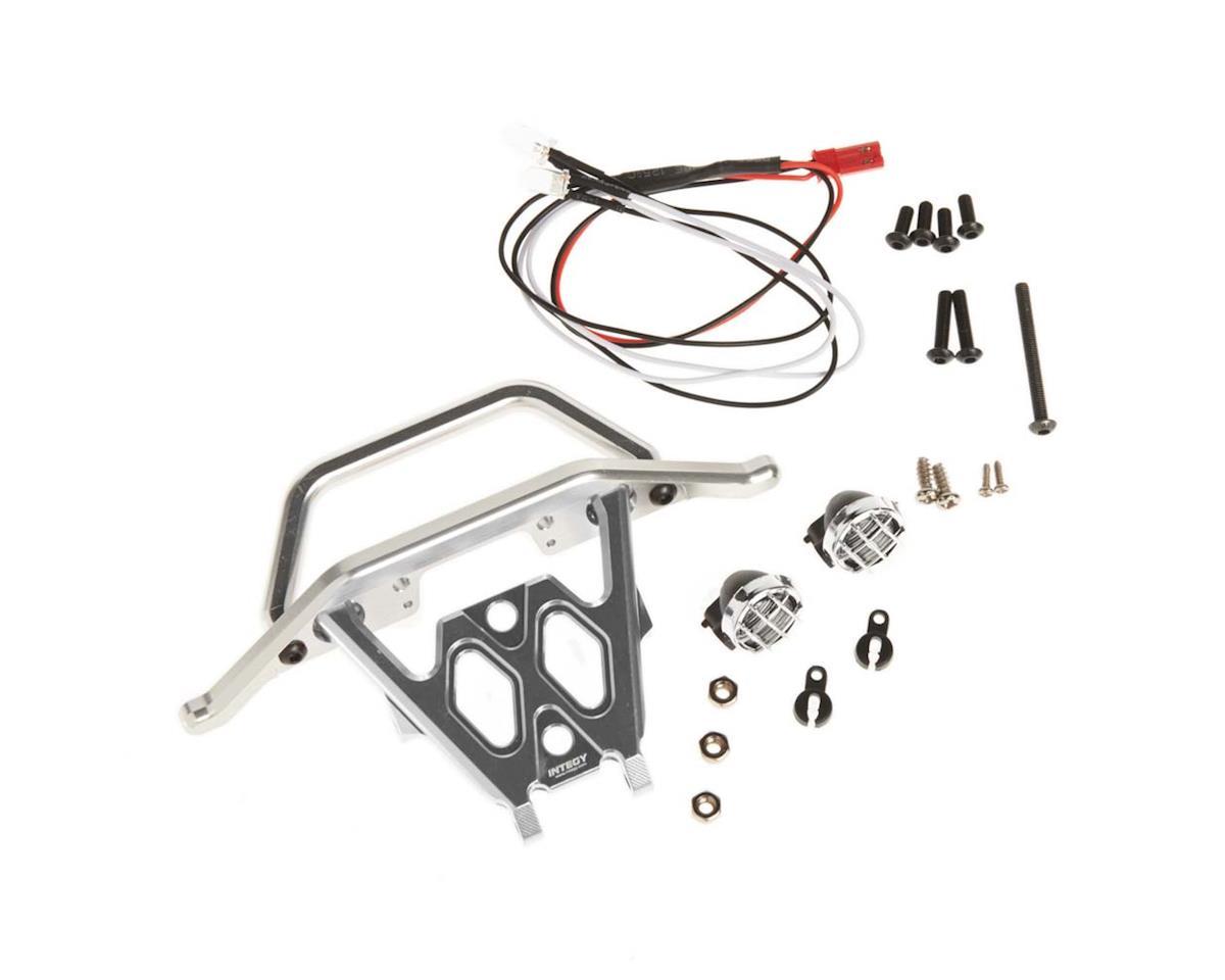 Team Integy C26043SILVER Front Bumper Set w/LED Lights 1/10 Yeti