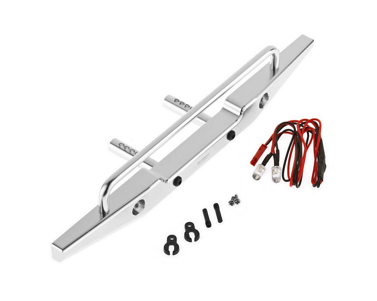 Team Integy C26374SILVER Metal Re Bumper w/LED AXI SCX-10 43mm Mnt