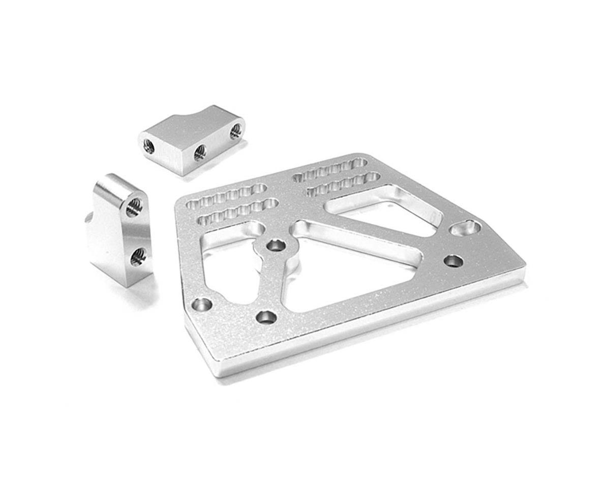 Team Integy C26707SILVER Servo Mount Set 1/10 SCX-10 Crawler